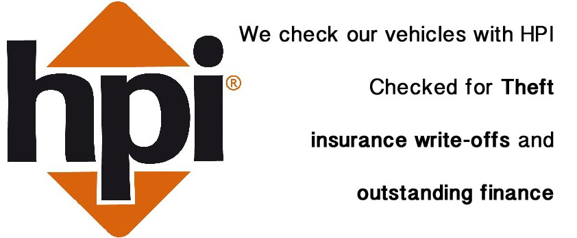 HPI Checked - for theft, insurance write-offs & outstanding finance